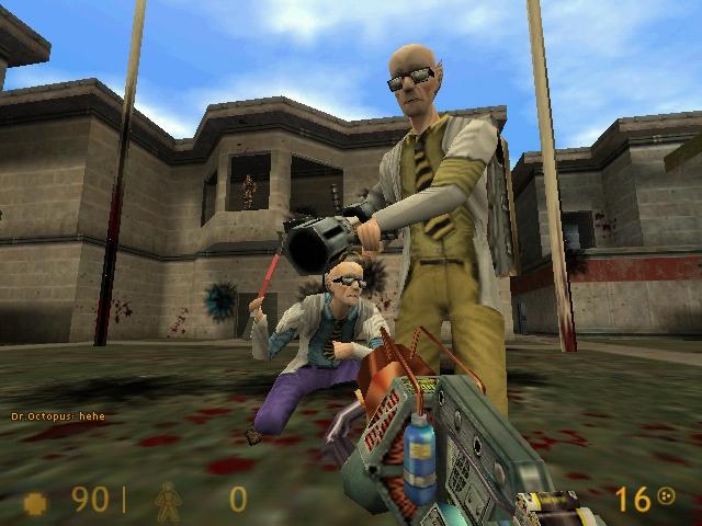 Half-Life Multiplayer-Сетевая. В многопользовательском режиме были изменен